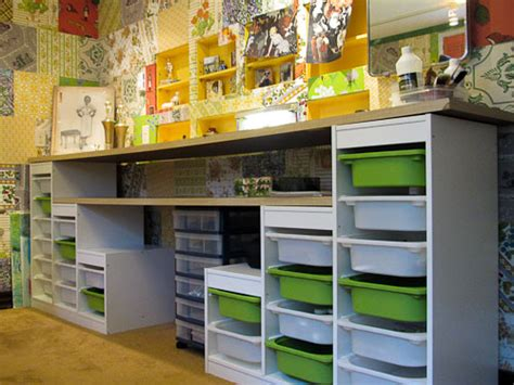 ikea craft room storage affordable craft room ideas using ikea storage and