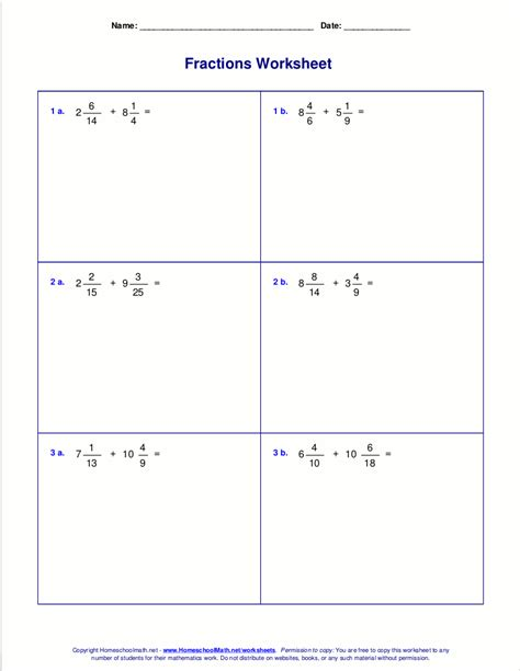 mixed number flashcards printable add mixed numbers th grade co 4th math worksheets add
