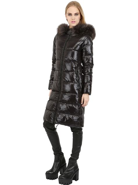 Goose Duvet Duvetica Alia Nylon Down Jacket In Black Lyst