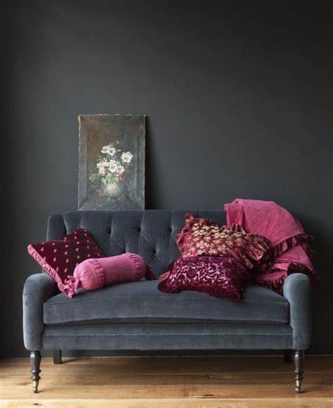 grey and pink sofa dark decor vkvvisuals com blog