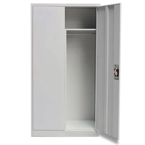 clothes storage cabinets with doors locker style cabinet 2 doors grey vidaxl co uk