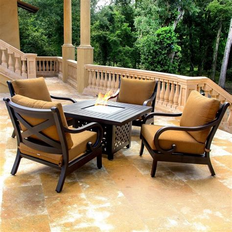 avondale 4 person cast aluminum patio seating set