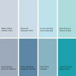 Partial to icy light grayish blues as well as bold turquoises but