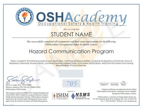 hazard communication program template oshacademy free occupational safety and health