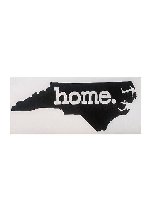 home state apparel nc home sticker from carolina by