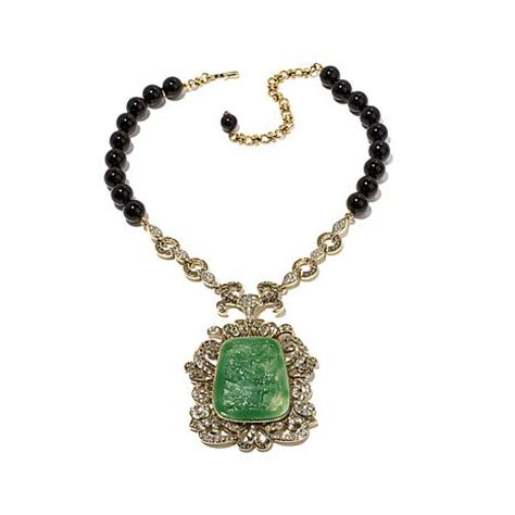 This Weeks Win It Heidis Necklace by Heidi Daus Quot Daus Dynasty Quot Carved Simulated Jade