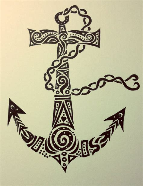 tribal anchor tattoo tribal anchor by therebornwolf on deviantart