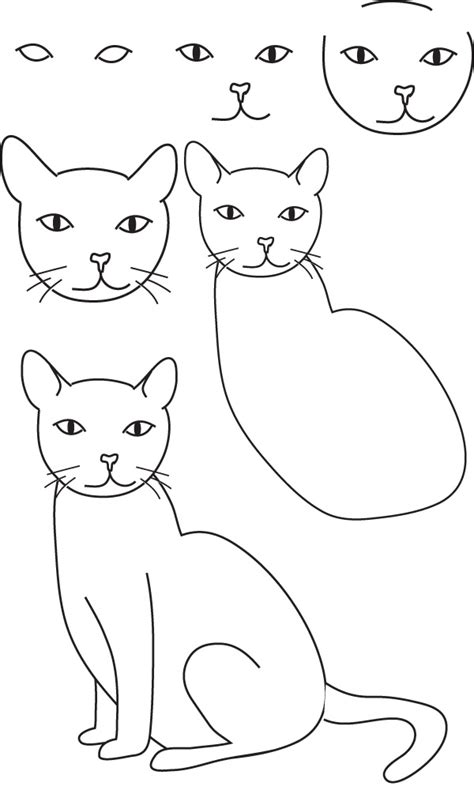how to draw doodle cat drawing cat