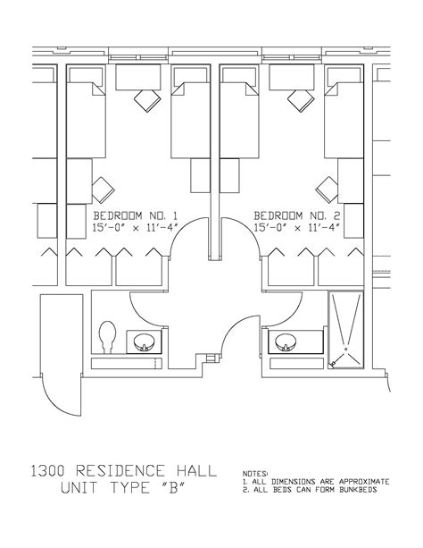 Game Room Floor Plans 1300 residence hall university housing and residential life