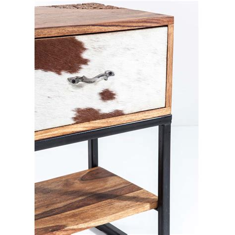 bedroom side tables rodeo cowhide wooden side table french bedroom company