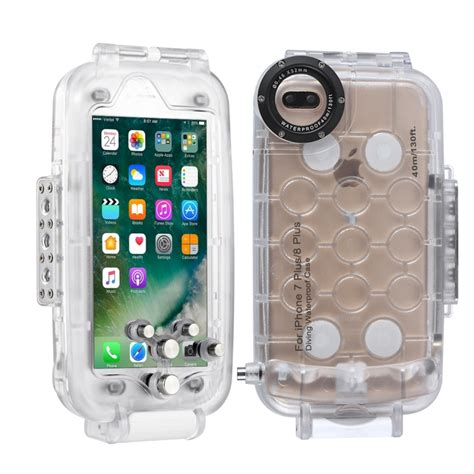 haweel for iphone 8 plus 7 plus 40m waterproof diving housing photo taking underwater