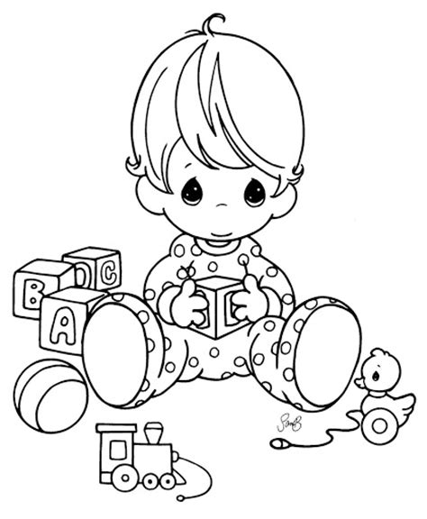 coloring page of baby boy precious moments baby boy coloring pages images pictures