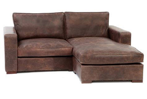 leather corner chaise sofa battersea chaise end compact leather corner sofa from old