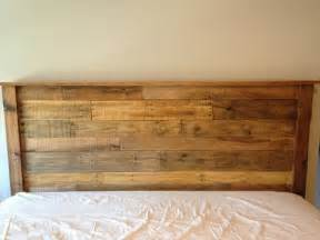 diy king sized pallet wood headboard pallet furniture diy