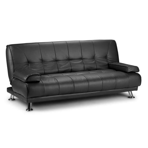 lounge sofa bed futon style pu leather lounge sofa bed in black buy sofa