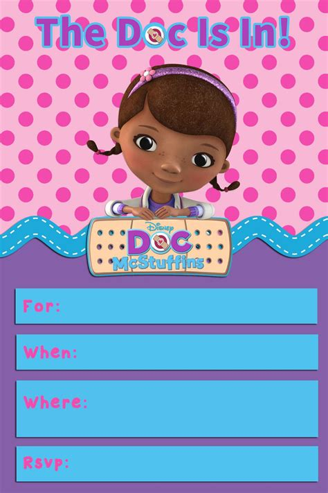 free doc mcstuffins invitation templates doc mcstuffins templates images