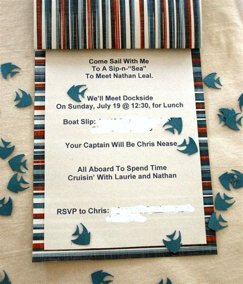 Diy Nautical Baby Shower Invitations by Working On A Sip N Quot Sea Quot Celebrations At Home