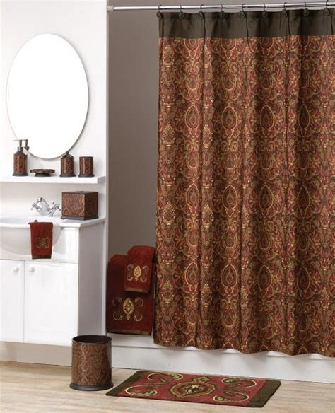 elegant shower curtains elegant persia fabric shower curtain maroon brown