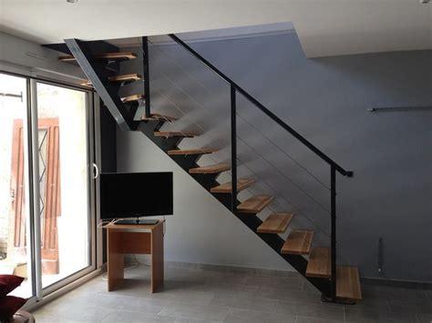 Escalier Dans Sejour by Escalier Poutre Centrale Sejour Moderne Escalier