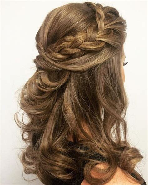 prom hairstyles for medium length hair with braids gorgeous half braided mid length prom hairstyles 2017