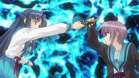 anime battle yuki nagato vs ryoko asakura full scene youtube