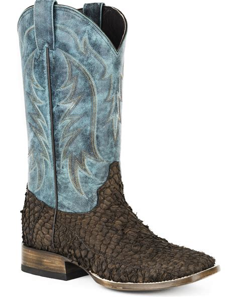 fish boots stetson s fish western boots square toe