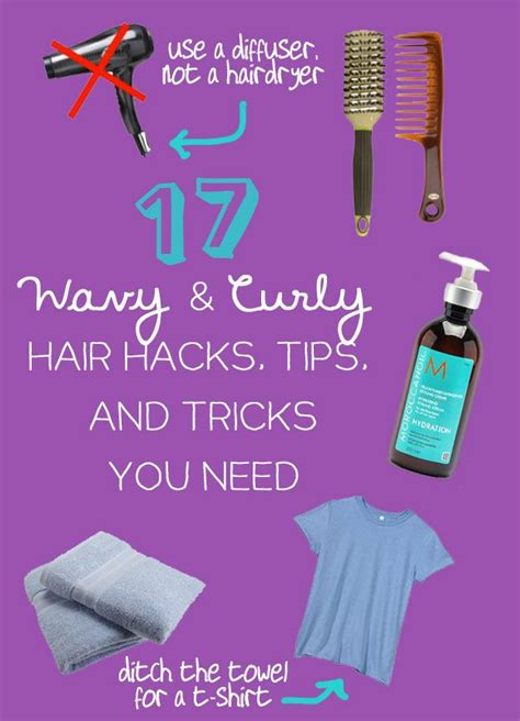 17 wavy and curly hair hacks tips and tricks you need 17 wavy and curly hair hacks tips and tricks you need