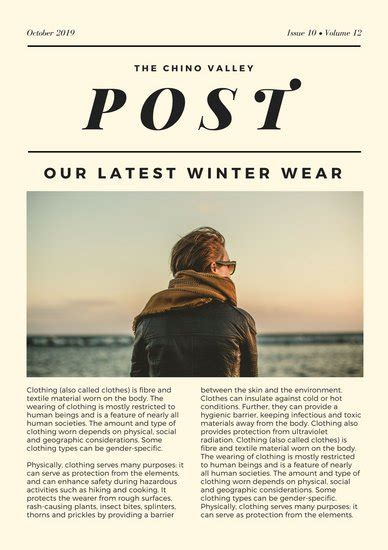 canva newspaper article customize 721 newsletter templates online canva