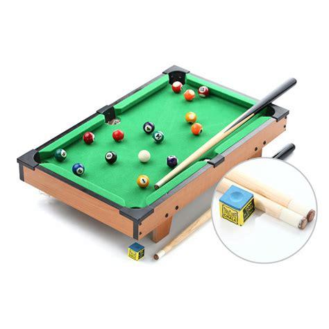 Biliard Table Toys 20 quot classic mini american pool table billiard tabletop