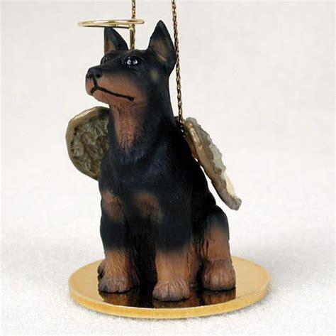 Doberman Pinscher Ornament Angel Figurine Hand Painted Black Fridge Magnet Toys