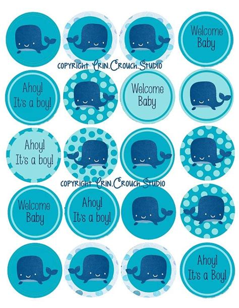 Cupcake Toppers For Baby Boy Shower by 20 Printable Digital Cupcake Toppers For Ahoy It S A Boy