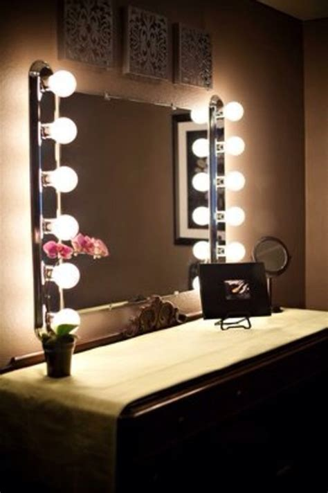 Mirror Lights Bedroom Vanity Mirrors With Lights To Make By Your Selves Beautiful House