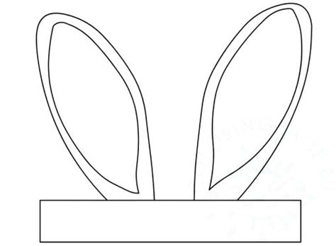 easter bunny hat template awesome rabbit ear template photos resume ideas