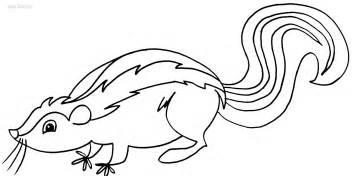 printable skunk coloring pages kids cool2bkids