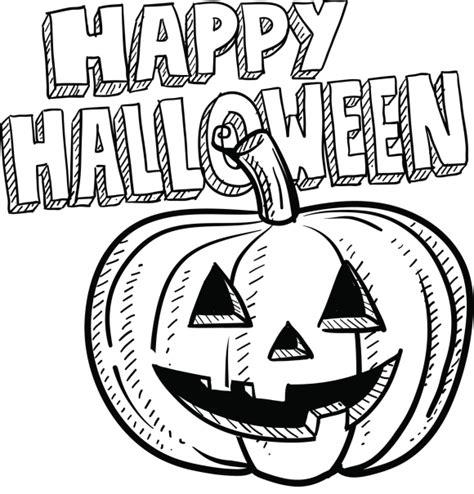 imagenes de halloween sin color dibujos de happy halloween para imprimir y pintar