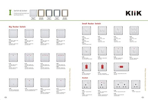 different types of electrical switches electronic switches