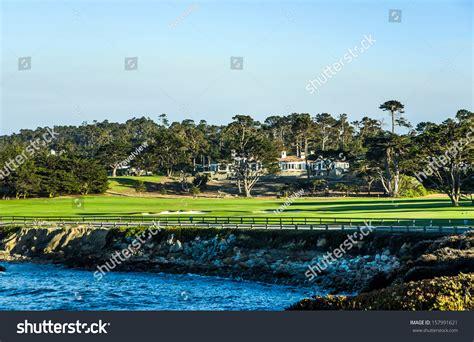 houses on pebble golf course pebble usa july 27 beautiful stock photo 157991621
