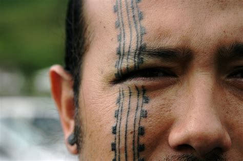 tribal tattoo on face tribal noho