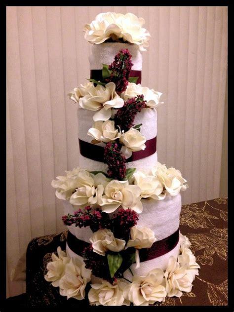 bridal shower towel cake decorations bridal shower towel cake wedding shower towel cake shower ideas bridal shower