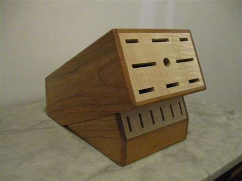custom knife block crafted custom knife block by woodworking plus