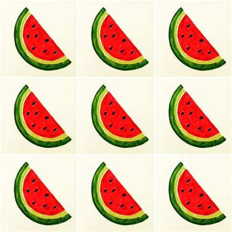 watermelon emoji watermelon emoji drawing by busra menekse