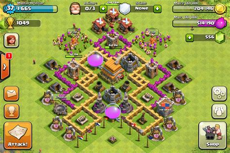 coc strong layout town hall level 6 my base thinglink