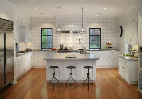 u shaped kitchen designs with island subway tiled kitchen transitional kitchen