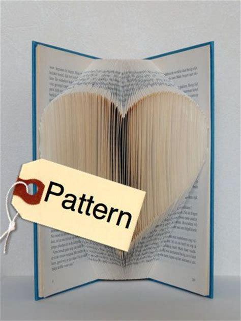 pattern english book bookfolding pattern heart english folded book art book