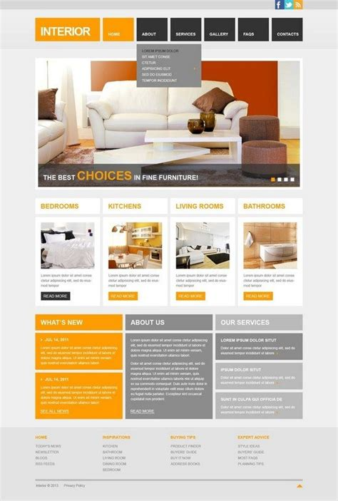 interior design websites free 50 interior design furniture website templates free