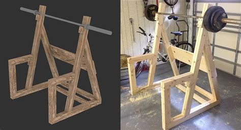 woodwork wooden power rack plans  plans