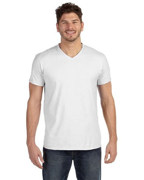 Hanes Cotton For 4 hanes 498v 4 5 oz 100 ringspun cotton nano t 174 v neck t shirt 4 15 s t shirts