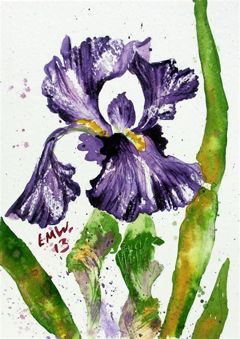 watercolor tutorial iris free watercolor painting tutorial bearded iris the