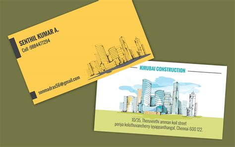 construction business card template psd free free visiting card templates psd 55 best free modern