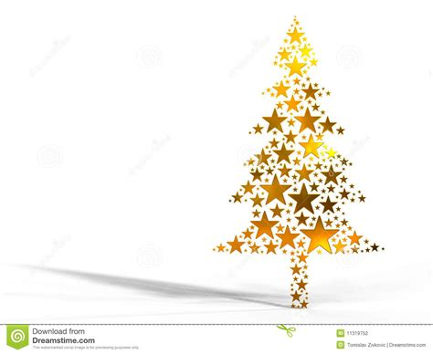 christmas tree made from golden stars stock illustration